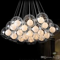Wholesale modern minimalist chandeliers - Modern 19 lights Glass Blub Ceiling Pendant Lamp Chandeliers Living Room Lamp Minimalist Restaurant Lamp Chandelier Light Bedroom Light