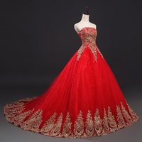 Wholesale Free Princess Pictures - smt13 2017 Free Shipping Vintage Lace Red Wedding Dresses Long Train Plus Size Ball Gown Robe de Mariee Cheap dress gowns