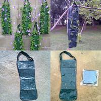 dikey tip toptan satış-Ev Bahçe Çiçek Kılıfı 8 Delik Cep Dikey Yeşil Bahçe Duvar Cep Basit asılı tip Çiçek Kılıfı Toptan özel WX-P03 Kabul