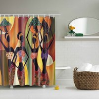 Wholesale modern print curtains - Wholesale- 3D Decor Collection Nautical Colorful Seascape Picture Print Bathroom Set Fabric Shower Curtain with Hooks New