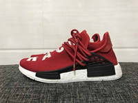 Wholesale Pvc Cans - Human Race NMD Truth Boost Shoes laces Can Reflect light Orange BB0616 For Men Running Shoes ship with box