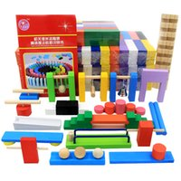Wholesale Toys Free International Shipping - Dominoes 100pcs domino   color International Standards Pine production  wooden toys kid toy free shipping