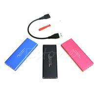ssd kartları toptan satış-Toptan-Sıcak USB 3.0 M.2 NGFF B Anahtar SSD Adaptörü Kart Harici Muhafaza Durumda Kapak Kutusu