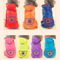 Wholesale Dog Coat Hooded Clothes - 1 Piece Pet Rain Coat Dog Raincoat Hoody Jacket Clothes England Style Puppy Hooded Waterproof Rain Suit Drop Shipping
