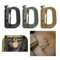 Wholesale Wholesale Military Rings - Outdoor Gear Military Tactical D Ring Plastic Carabiner Backpack Hang Buckle Hook Key Clip Carabiner Spring Snap Hook