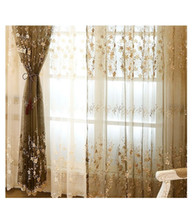 Wholesale Pearl Curtains - European lace 3D relief fake pearl Window sheer Curtains Tulle for Living Room Bedroom floral Embroidered voile 1pcs wholesale fabric price