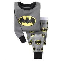 Wholesale Girls Pink Sleepwear - Batman Boys Pajamas Clothes Sets Pink Fashion Children PJ'S Kids Pyjima Cotton Baby Girls Sleepwear Pijima