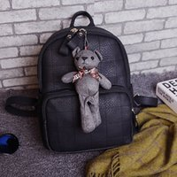 Wholesale Korean Car Styling - 2017 car stitch bear bear shoulder female Korean version of the school wind students bag backpack low price for sale