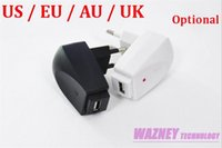 200pcs / lot 5V 1A US EU AU UK fiche USB Rapid Travel Battery Accueil Wall AC Chargeur Adaptateur Petit arc Pour IPhone Samsung HTC LG