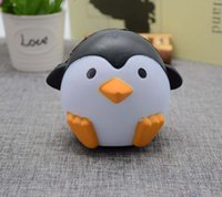 Model Toys Elastic Environmentally PU Yiwu Toy 2017 hot sale Jumbo Kawaii Cute Penguin Squishy Slow Rising Soft Sweet Charm Scented Bread Cake kid Toy Gift