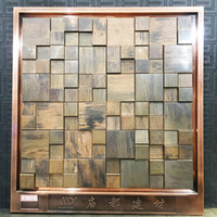 Wholesale antique copper mosaic copper mosaic wall tiles Metal mosaic tile sticker backsplash homemosaic decor wall tile MDT6051