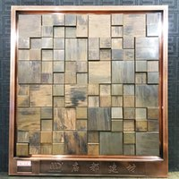 Wholesale Metal Backsplash Tile - antique copper mosaic, copper mosaic wall tiles,Metal mosaic tile sticker,backsplash homemosaic decor wall tile,MDT6051