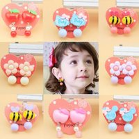 Wholesale Wholesales Clip Baby Earrings - Children's Fashion Jewelry Girl's ear clip Dangle Earring Kids party Drop Earrings baby girl's cute earrings DHL free shipping CK401