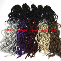 Wholesale 20 quot Omber Curly Weave Hairstyle Faux Locs Synthetic Crochet Braiding Hair for Women Long Curly Jumbo Braids Crochet Hair Extension s set