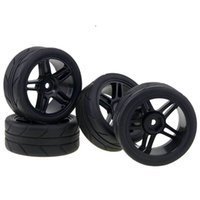 Wholesale plastic rims for cars - RC HSP 905B-6087 Plastic Wheel Rims & Tires Tyre For 1:10 On-Road Racing Car