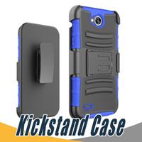 Wholesale Optimus F3 - Kickstand Hard Back Cover PC+TPU Shockproof Slip Holder 3 in 1 Customized For LG MS659 LS620 F70 D315 Optimus L70 F3 LS720 Volt LS740