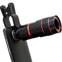 ampliación para la cámara del iphone al por mayor-Teléfono Monoculars lente Prismáticos Fixed Focus teléfono Cámara 8x zoom Optical Magnifying para iPhone 7 6s más Galaxy s7 s6 DHL libre SZU015