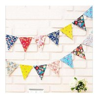 Commercio all'ingrosso - Fiori Bandiere Pennant Bambini Prima Divertimento Buon Compleanno Party Doccia Baby Boy Garlands PhotoBooth Candy Bar L40
