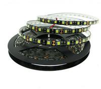 mini pcb toptan satış-Yeni gelmesi Siyah PCB LED Şerit 5050 IP20 olmayan su geçirmez IP65 Su Geçirmez DC12V 60LED / m 5 m rulo Esnek LED Şerit Işık