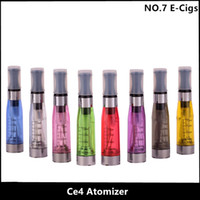 Wholesale Ego Atomiser Clearomizer - 5pcs lot New CE4 atomizer eGo Atomiser Clearomizer for Ego Electronic cigarette e cigarettes 1.6ml 8 Colors Free Shipping