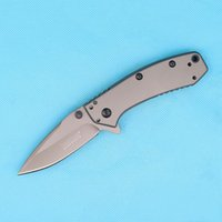 Cheap 1555Ti Flipper Assistido aberto Folding Knife 8Cr13 58HRC Drop Point Titanium Blade EDC Pocket Tool Outdoor Survical Tactical Knives