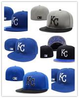 Wholesale Royal Hats For Women - Wholesale Cheap 2017 new Kansas City Royals Fitted for men women sports hip hop mens bones sun hats