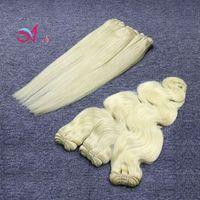 Wholesale remy hair 613 - Full 613 Brazilian Hair Weaves Body Wave or Straight Hair Bundles