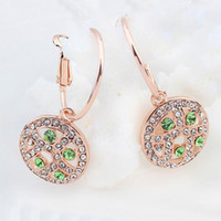 Luxo Noblest Rhinestone Crystal Dangle brincos para mulheres 18K Champagne Gold Plated Drop Earrings Baile de finalistas