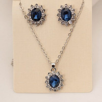 Wholesale British Necklace - Necklace earrings set British Princess with the series necklace earrings set Jewelry For Women Clothing accessoriesfree shipping