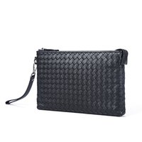 Wholesale Cowhide Clutches - New arrival Leather Man Bags Dinner Evening Clutch Handbag Business Men Clutch 100% Cowhide Genuine Leather Clutch Cellphone Men Bags