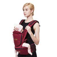 Wholesale Kangaroo Baby Bag - Hot sale Comfortable Fashion Infant Sling Soft Natural Wrap Sling Baby Backpack Breathable Hipseat Kangaroo bag baby wrap Suitable for 0-36