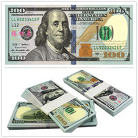 Wholesale Wholesale Staff - 100PCS USA Dollars New $100 Movie Props Money Bank Staff Training Banknotes Poker Game Chips Home Decoration Arts Collectible Gifts
