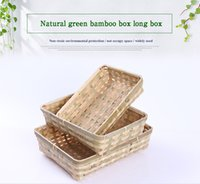 Wholesale Clothe Hand Bags - 2017Low - cost practical hand - made bamboo bamboo bag collection basket creative pastoral wind woven fruit and vegetable box wholesale