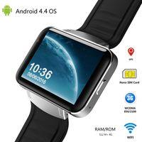 Wholesale mtk6572 hd resale online - DM98 Smart watch MTK6572 Dual core inch HD IPS LED Screen mAh Battery MB Ram GB Rom Android OS G WCDMA GPS WIFI