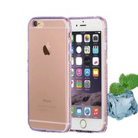 Wholesale Ice Blue Iphone Case - Crystal Soft TPU Melted Ice Diamond Cases Colorful Back Cover Case For iPhone Samsung A710 NOTE 5 OPPO HUAWEI VIVO With Retail Package