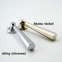 Wholesale Wholesale Decorative Drawer Knobs - Dresser Drop Knobs Drawer Knob Pulls pendant Kitchen Cabinet Pulls Knob Handle Silver Decorative Furniture modern simple chrome