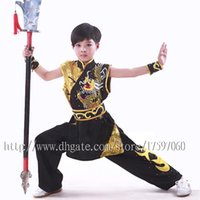 Wholesale Martial Arts Outfit - Chinese wushu uniform Kungfu clothing taolu outfit Martial arts outfit nanquan garment shaolin for men women boy girl children kids adults