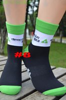 Wholesale Wholesale Team Sportswear - 5pairs lot CoolMax UCI pro team dimension data Cycling sport socks Protect feet breathable wicking racing socks Bicycles sportswear