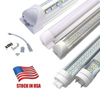 Stock en EE. UU. + 4 pies LED Tubos SMD2835 4ft T8 G13 v-patrón YT solo Pin LED Tubo luces LED Tubo fluorescente Lámparas 85-265V
