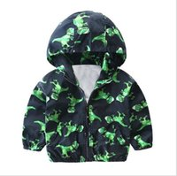 Wholesale Wholesale Ski Coats - Boy ski-wear, coat the new 2017 children in the spring and autumn period and the children's wear children's dinosaur printing baby leisure t