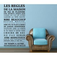"""Wholesale House Rules Wall Art - adesivo de parede """"House rules"""" French Quote Wall Stickers Home Decor In This House Vinyl Decals Free Shipping"""
