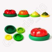 Wholesale Kitchen Fruit Vegetable Storage - Assorted Food Hugger Silicone Caps Food Saver Fruit Vegetable Reusable Preservation Tool Food Storage Containers Kitchen Accessories OOA1053