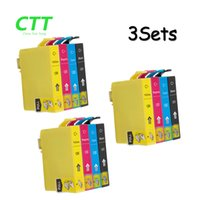 Wholesale Epson Sx235w - CTT Ink Cartridges T1291 12pcs Compatible for Epson T1292 T1293 T1294 SX235W SX420W SX425W SX435W SX438W SX445W SX525WD SX535WD Printer