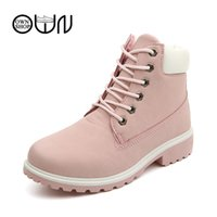 Wholesale Red Workers - Wholesale-women boots brown worker womens shoes ankle leather boots women winter boots worker ankle 2016 snow shoes autumn zapatos mujer