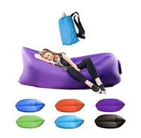 Wholesale Fast Inflatable Sofa Air Sleeping Bags Beach Lounger Hangout Couch Portable Camping Hiking Beds Lazy Beach Outdoor Lay Chairs
