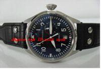 reserva de reloj automático al por mayor-Proveedor de fábrica Reloj de pulsera de lujo Automático Gran Piloto Ref. 5004 Dial Negro 7 Días Reserva de energía Relojes para hombres Relojes para hombres