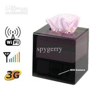 Wholesale Ip Video Box - H.264 Wifi IP Camera Tissue Box Covert DVR Camera Video With Motion Detection Function