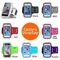 Wholesale plastic key holder case online - For Samsung S8 ArmBand Case Water Resistant Sports Armband with Key Holder for iPhone Plus Samsung Galaxy S5 S6 edge Note Note