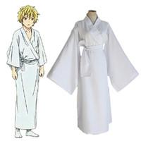 weißes kimonokostüm großhandel-Yukine cosplay Kostüme weißen Kimono japanischen Anime Noragami Kleidung Maskerade / Mardi Gras / Karneval Kostüme liefern aus Lager