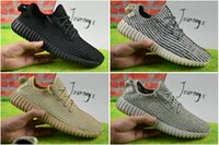 Wholesale 2017 Discount Kanye West Y Boost Pirate Black Low Sports Running Shoes Women and Men Sneakers Training Boots Wth Box Eur36